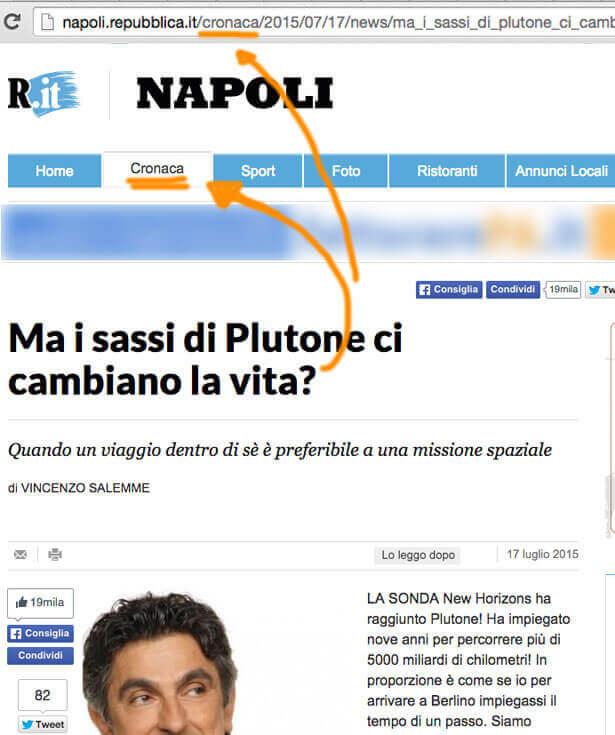 Vincenzo Salemme articolo su Plutone